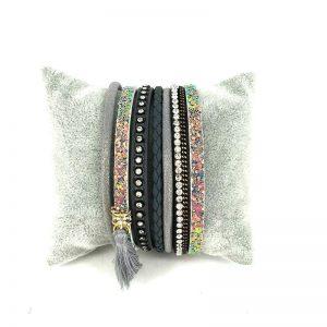 bracelet multitours tendance cuir