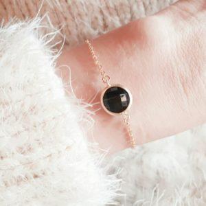 bracelet femme tendance noir