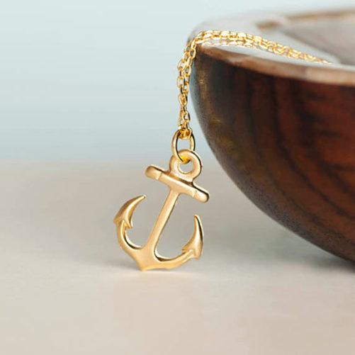 collier ancre - bijoux fantaisie