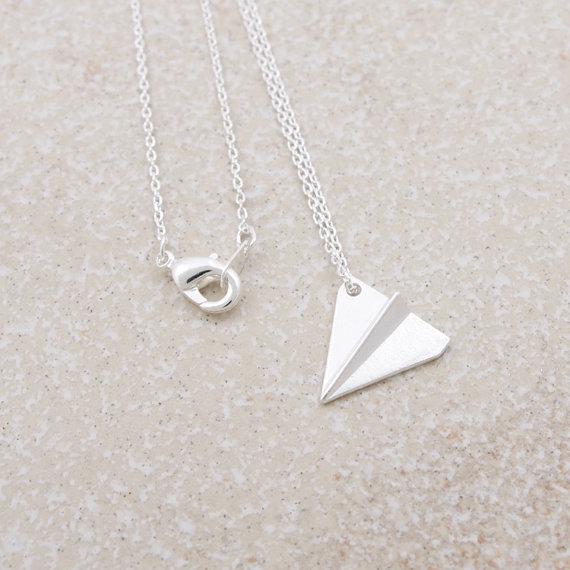 collier argent origami