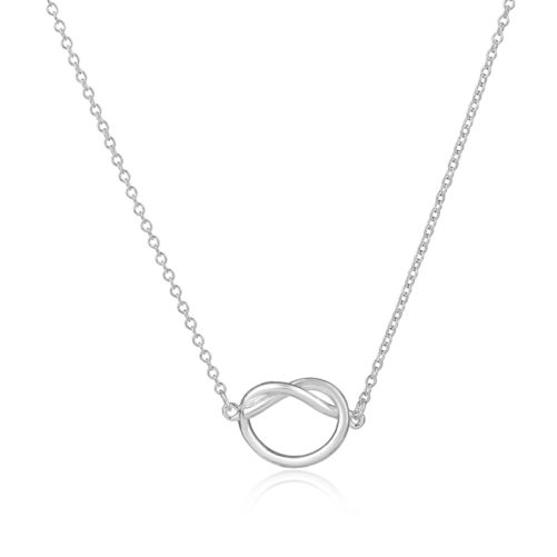 collier noeud argente