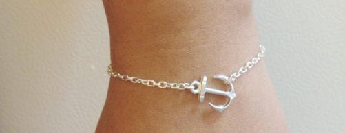 Bracelet ancre marine pas cher