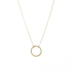 collier cercle dore