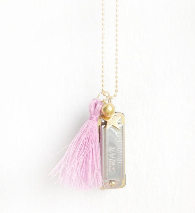 collier harmonica - bijoux fantaisie pas cher