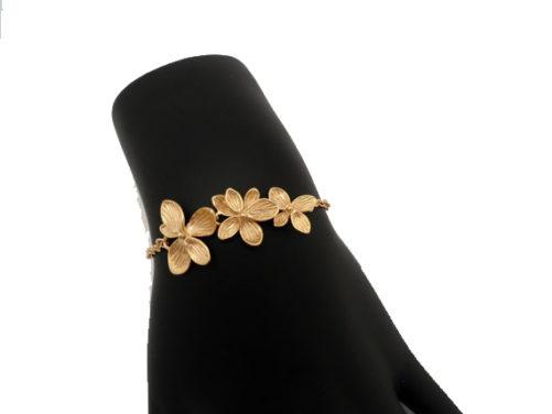 bracelet fantaisie orchidée