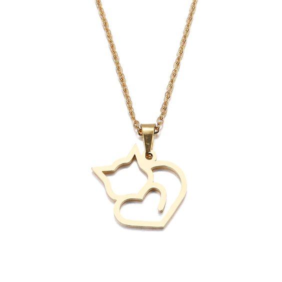 collier chat cadeau femme