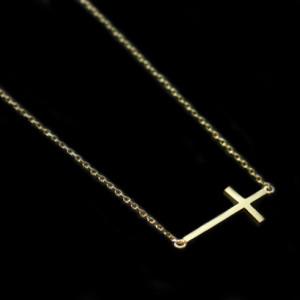 collier croix bijoux fantaisie trendy