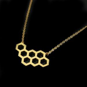 collier fantaisie nid d'abeille