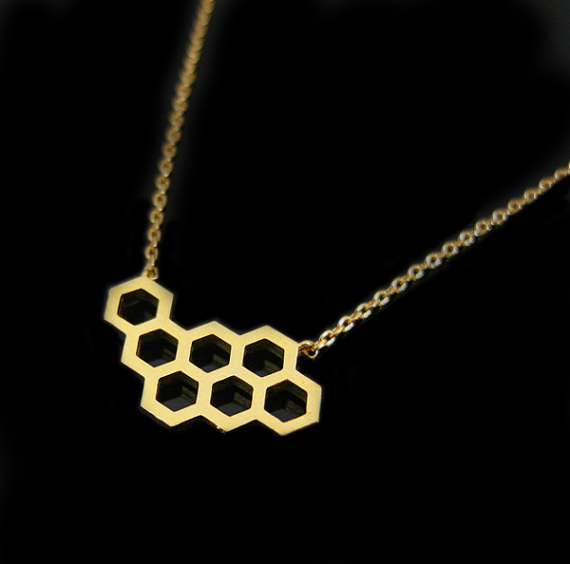 collier nid d'abeille