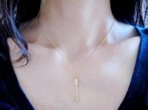 collier fleche bijoux trendy