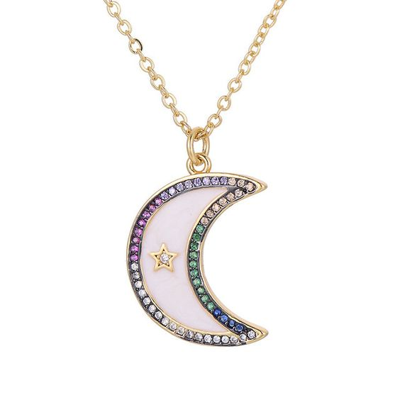 collier lune Swarovski