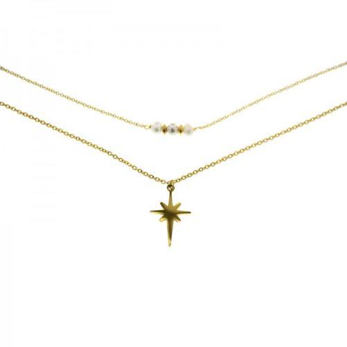 collier portebonheur perle