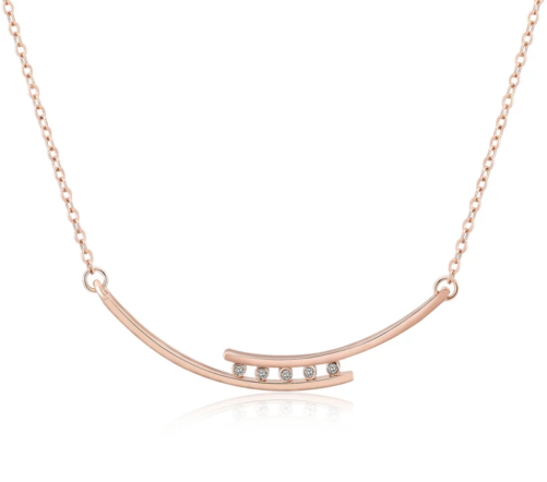 collier zirconium rose gold