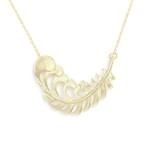 collier feuille bijoux createur