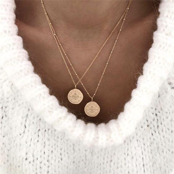 collier or fin tendance