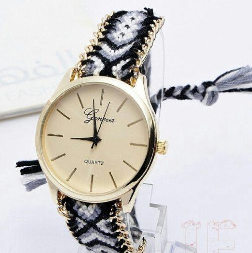 bracelet bresilien montre noir
