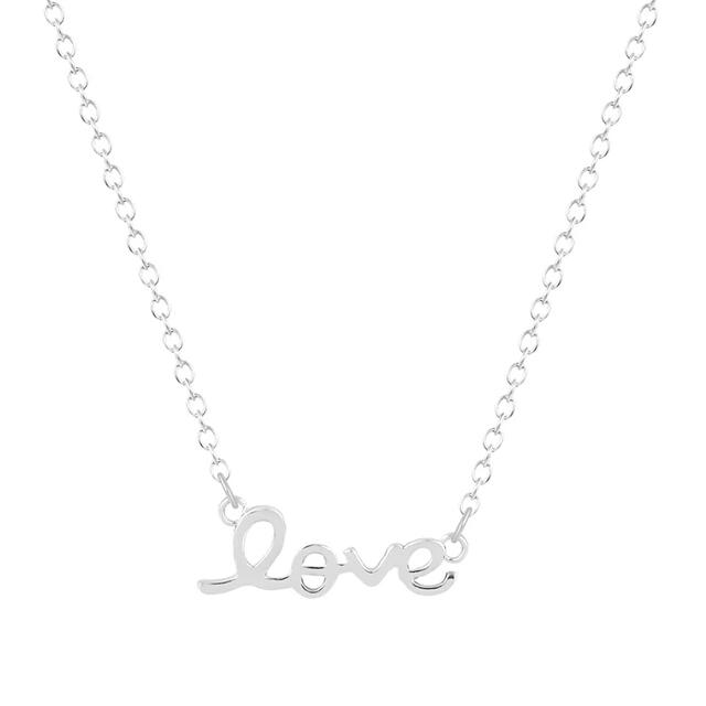 collier love argente