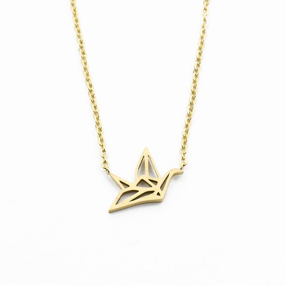 collier origami tendance