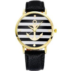 montre ancre marine noir