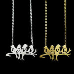 collier oiseau love