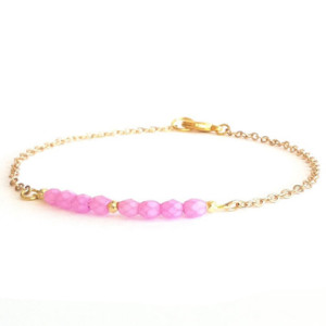 bracelet createur rose