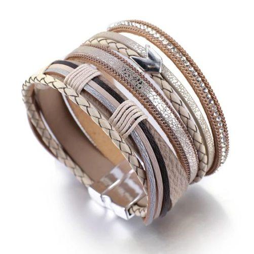 bracelet fantaisie beige