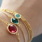 bracelet fantaisie femme rouge
