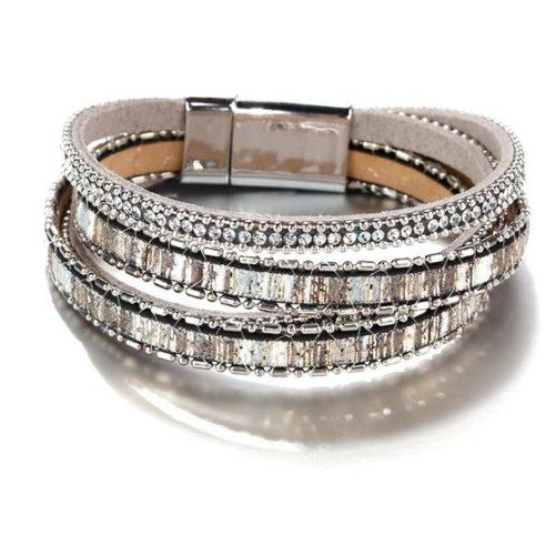 bracelet multitours cristaux strass