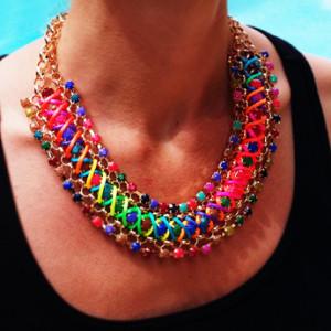 collier femme fantaisie original