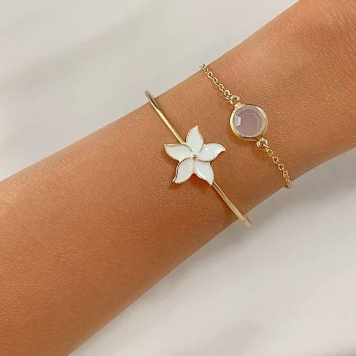 bracelet fleur tendance