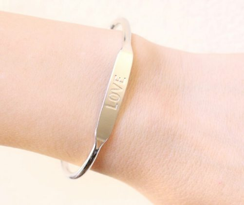 bracelet love argenté