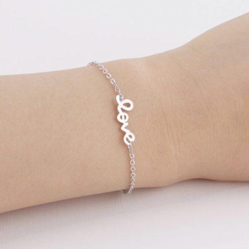 bracelet love argente
