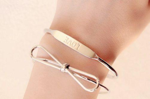bracelet noeud argenté