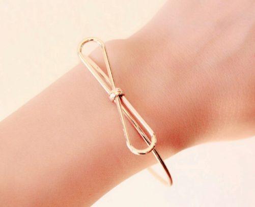 bracelet noeud doré