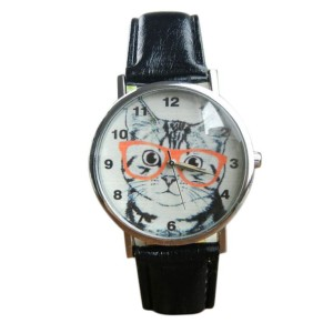 montre fantaisie chat