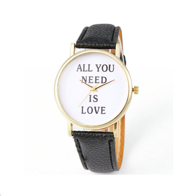 montre love noir