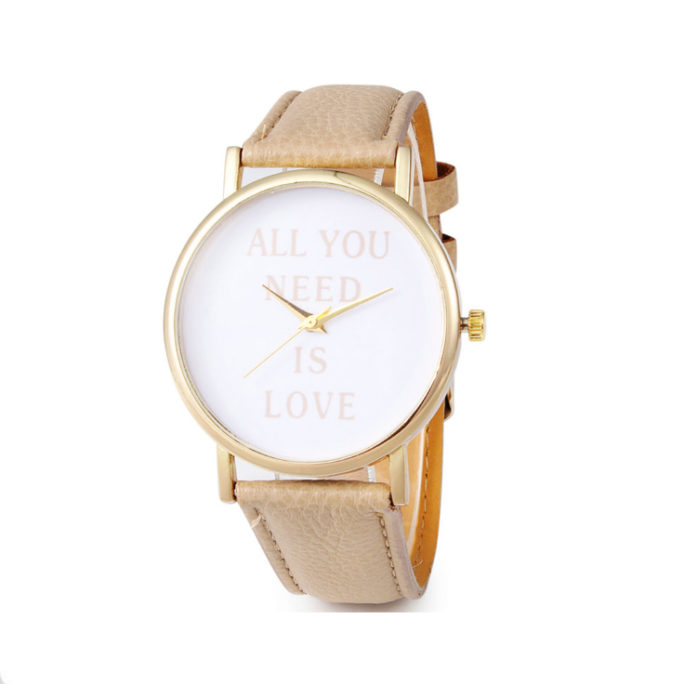montre love beige