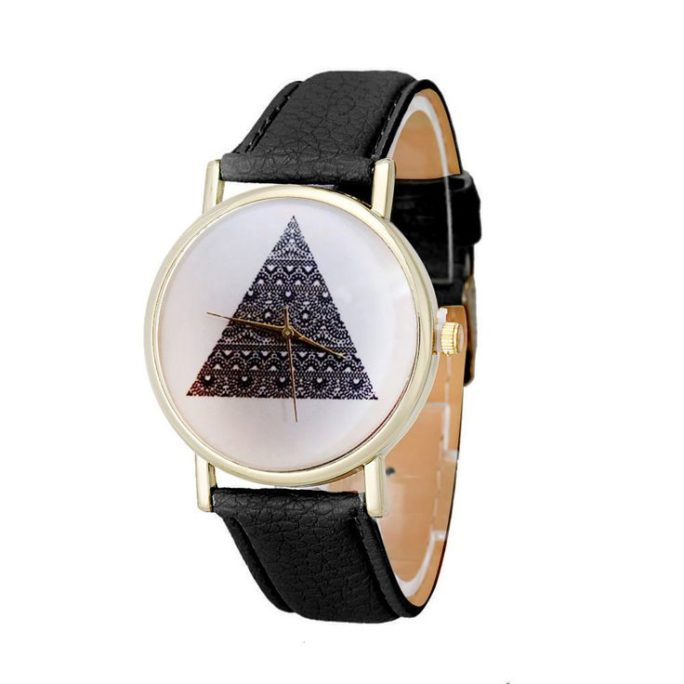 montre triangle noir