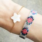 bracelet etoile nacre