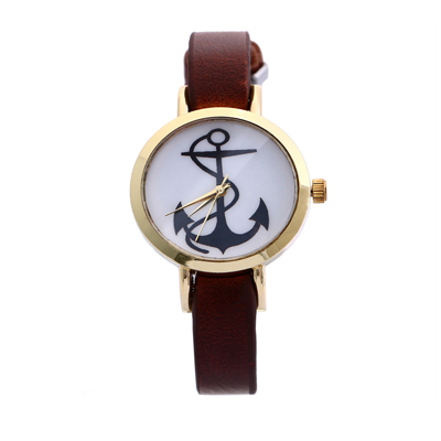 montre ancre marron