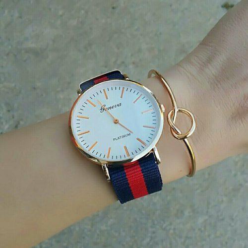montre femme rouge bleu