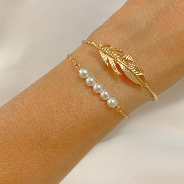 bracelet plume femme