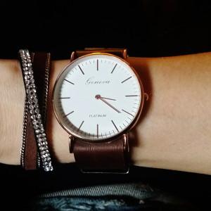 montre avec bracelet tendance