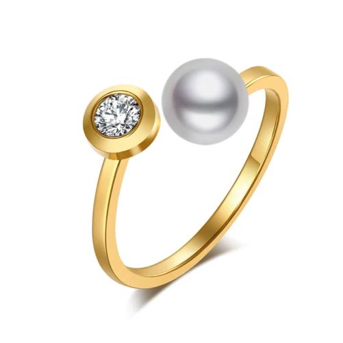 bague tendance perle