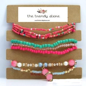 bracelet femme fantaisie rose