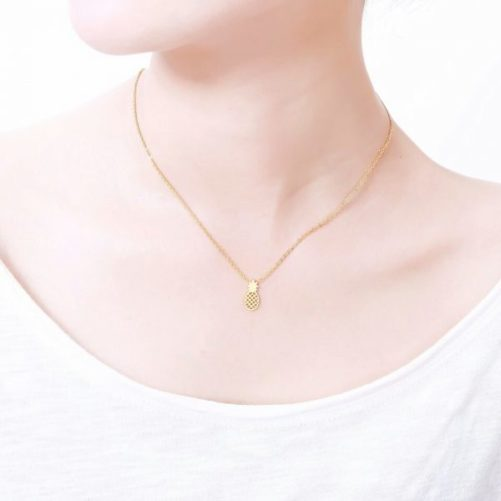 collier femme ananas