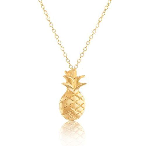 collier ananas doré