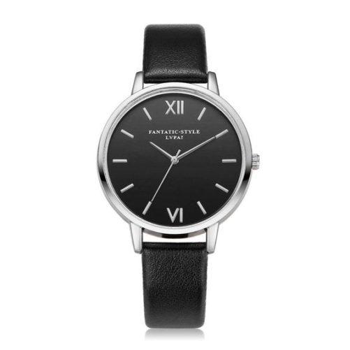 montre minimaliste noir