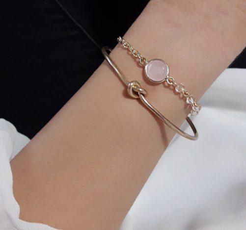 bracelet fantaisie tendance rose