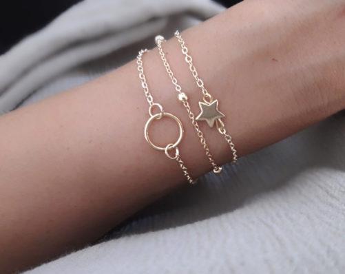 bracelet multirangs cercle